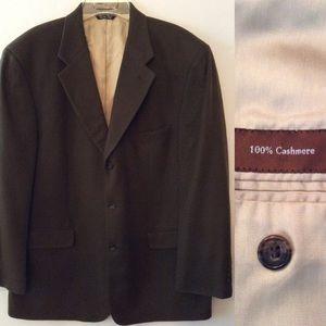 Men's Brown Cashmere Sports Jacket Blazer 44 R